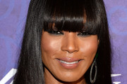 Angela Bassett Long Straight Cut with Bangs