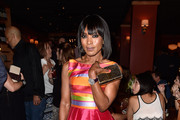 Angela Bassett Metallic Clutch