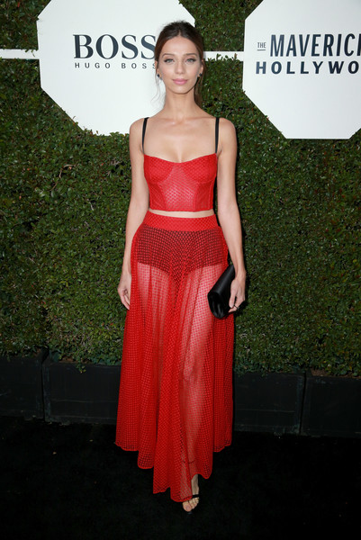 Angela Sarafyan Corset Top [annual mavericks of hollywood - arrivals,dress,flooring,cocktail dress,gown,fashion model,carpet,shoulder,fashion,red carpet,formal wear,angela sarafyan,hollywood,los angeles,california,sunset tower,esquire]