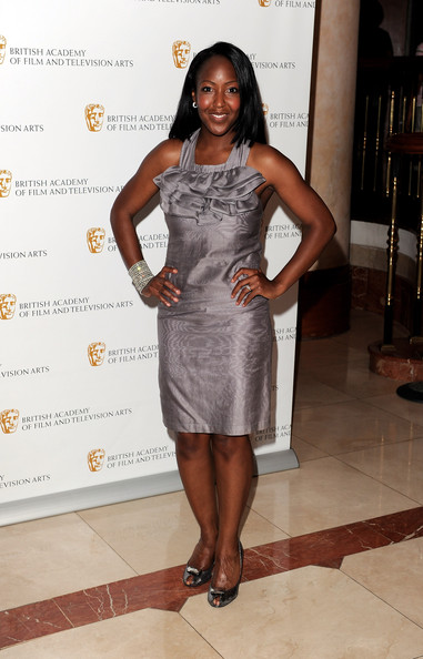 Angelica Bell Cocktail Dress [clothing,dress,shoulder,cocktail dress,fashion,fashion model,leg,joint,long hair,thigh,british academy television craft awards,london hilton hotel,england,angelica bell]