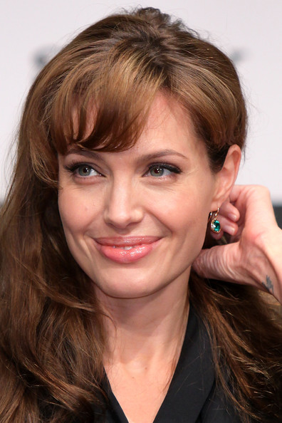 Angelina Jolie Dangling Gemstone Earrings