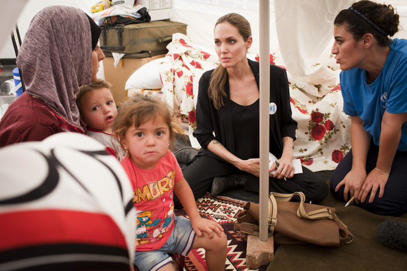 UNHCR Special Envoy Angelina Jolie Meets With Syrian Refugees In Turkey