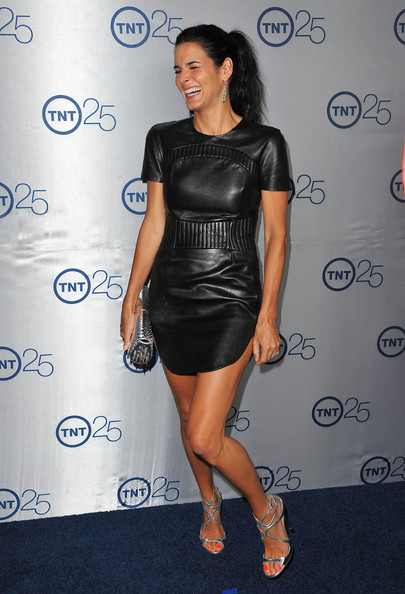 More Pics of Angie Harmon Leather Dress (1 of 13) - Leather Dress Lookbook - StyleBistro