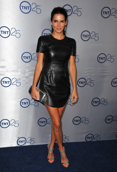 Angie Harmon Leather Dress