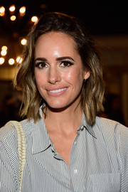 Louise Roe rocked an asymmetrical wavy 'do at the Anine Bing Los Angeles flagship opening.