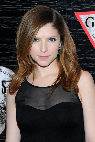Anna Kendrick Long Wavy Cut [guess celebrates new york fashion week,anna kendrick,arrivals,on the road,on the road,hair,face,hairstyle,beauty,eyebrow,blond,shoulder,brown hair,lip,long hair,nashville,new york city,center 548]