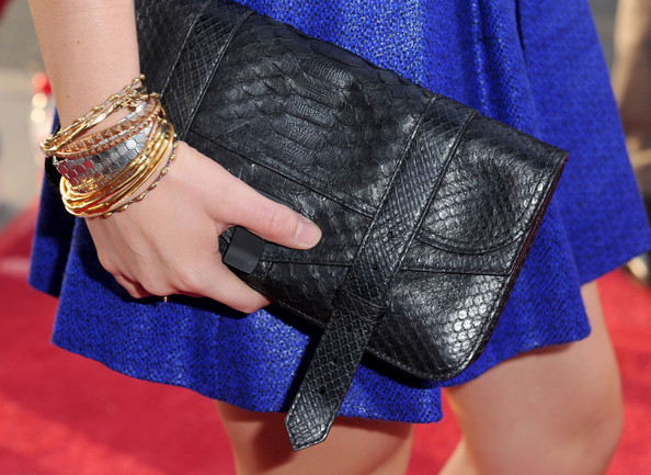 Anna Paquin Buckled Clutch