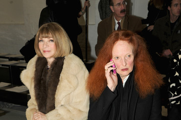 Anna Wintour Grace Coddington Rodarte - Front Row - Mercedes-Benz Fashion Week Fall 2014