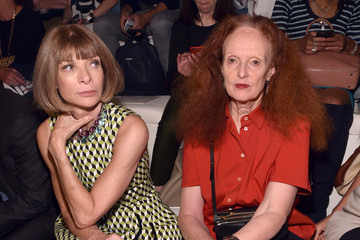 Anna Wintour Grace Coddington Ralph Lauren - Front Row - Spring 2016 New York Fashion Week: The Shows