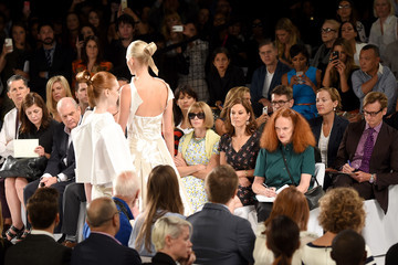 Anna Wintour Hamish Bowles Carolina Herrera - Front Row - Mercedes-Benz Fashion Week Spring 2015