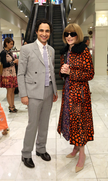 Anna Wintour Pumps [brooks brothers,zac posen host book launch party,party girls die in pearls,clothing,fashion,street fashion,suit,eyewear,snapshot,outerwear,footwear,event,fashion design,new york city,plum sykes,zac posen,anna wintour]
