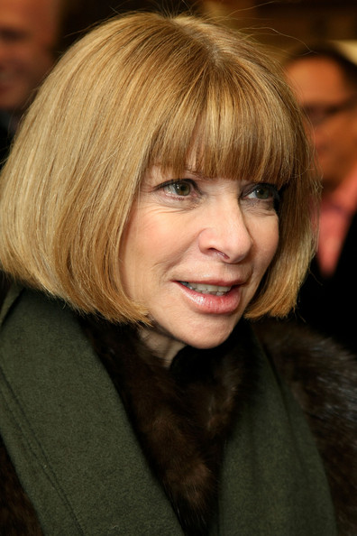 Anna Wintour Bob [hair,hairstyle,face,blond,bangs,chin,layered hair,eyebrow,bob cut,hair coloring,anna wintour,new york city,barneys new york,vogue,olivier theyskens book launch,mercedes-benz fashion week]