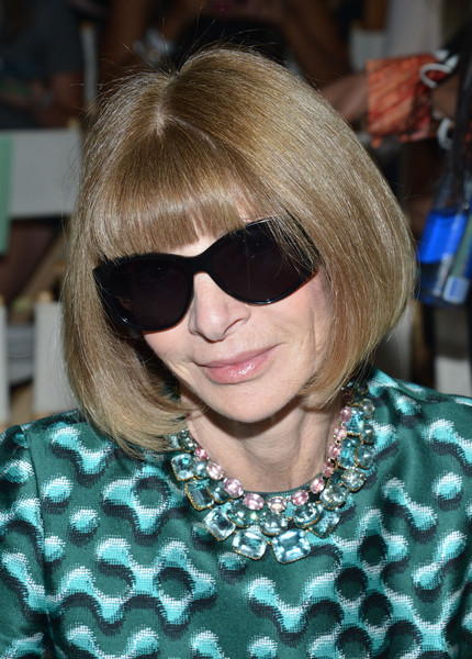 Anna Wintour Bob [serena williams signature statement\u00e2,show,eyewear,hair,hairstyle,blond,sunglasses,cool,bangs,bob cut,glasses,hair coloring,anna wintour,hsn\u00e2,front row,new york city]