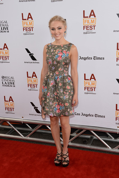 AnnaSophia Robb Print Dress