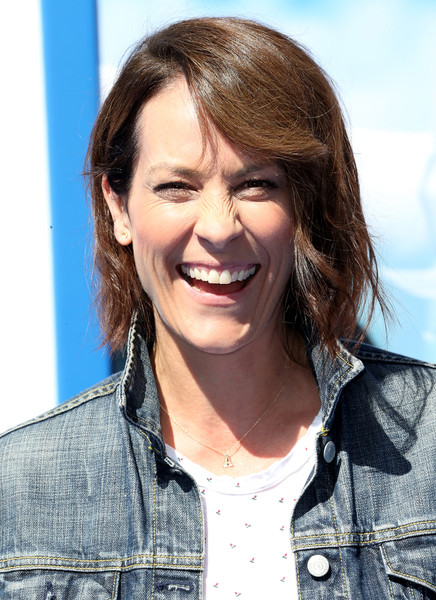 Annabeth Gish Bob [storks,hair,face,hairstyle,facial expression,smile,eyebrow,chin,beauty,long hair,lip,arrivals,annabeth gish,california,westwood,regency village theatre,warner bros. pictures,premiere,premiere]