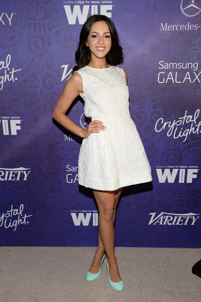 Annet Mahendru Mini Dress [variety and women in film emmy nominee celebration,clothing,dress,cocktail dress,shoulder,fashion,fashion model,electric blue,joint,footwear,carpet,annet mahendru,west hollywood,california,variety and women in film emmy nominee celebration,samsung galaxy,red carpet]