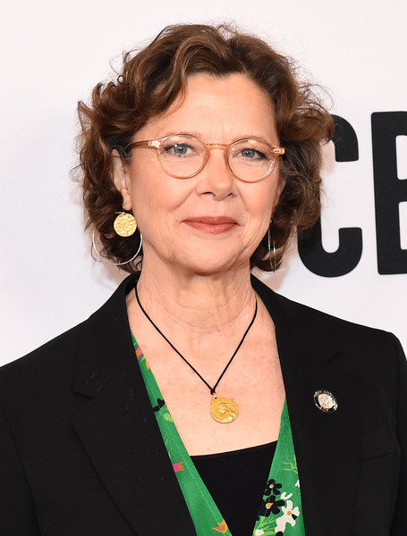 Annette Bening Curled Out Bob [nominees,annette bening,eyewear,glasses,official,white-collar worker,award,vision care,annual tony awards,new york city]