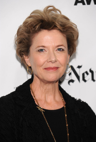 Annette Bening Short Curls [hair,face,hairstyle,chin,eyebrow,forehead,blond,lip,premiere,layered hair,annette bening,new york city,wall street,ifp,cipriani,gotham independent film awards - arrivals,20th annual gotham independent film awards]