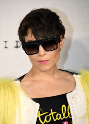 Noomi Rapace sported a mussed-up 'do at the UK premiere of 'Anthropoid.'