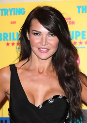 Lizzie Cundy swept her long locks to the side at the UK premiere of 'Anuvahood.'