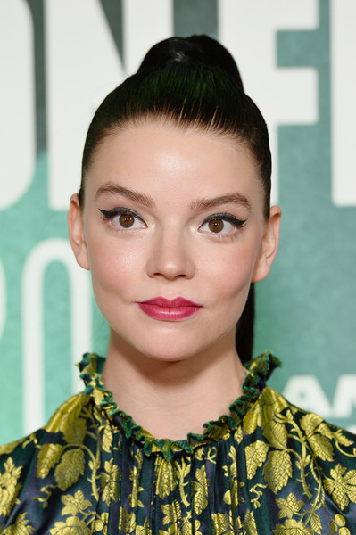 Anya Taylor-Joy Ponytail [thoroughbreds international premiere,hair,face,hairstyle,lip,eyebrow,fashion,beauty,forehead,chin,black hair,anya taylor-joy,thoroughbreds,london,england,bfi london film festival]