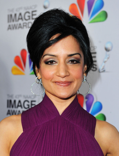 Archie Panjabi Diamond Hoops