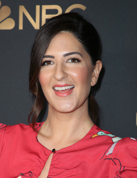 D'Arcy Carden Loose Ponytail [hair,face,hairstyle,eyebrow,chin,beauty,forehead,lip,smile,cheek,arrivals,darcy carden,universal emmy nominee celebration,tesse restaurant,west hollywood,california,nbc,nominee celebration]