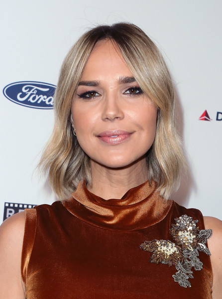 Arielle Kebbel Short Wavy Cut [reel stories,real lives,hair,face,hairstyle,blond,eyebrow,beauty,chin,shoulder,brown hair,lip,arrivals,arielle kebbel,los angeles,california,mptf,real lives event,7th annual reel stories,event]