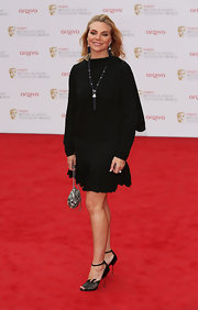 Samantha Womack's drop-waist LBD gave her a funky contemporary look on the red carpet.