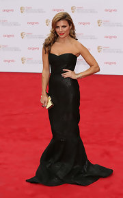 Zoe Hardman looked fabulously glamorous at the BAFTA TV Awards, where she wore this floor-length strapless gown.