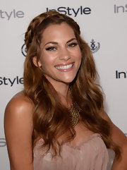 Inbar Lavi wrapped her golden braid atop her crown for a totally regal look.
