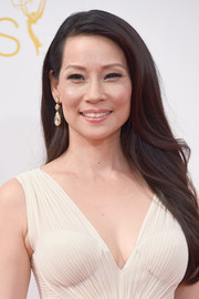 Lucy Liu stuck to her usual long side-parted style when she attended the Emmys.