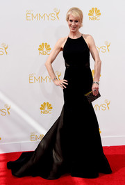 Moira Walley-Beckett chose a black gown with a voluminous skirt and train for her Emmys look.