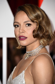 Carmen Ejogo went the vintage route with this finger-wave hairstyle at the Oscars.