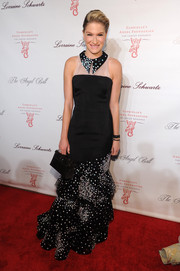 Julie Macklowe was a charmer at the Angel Ball in a black-and-white mermaid gown with a pointy collar and star embellishments.