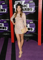 Kacey Musgraves sparkled in a light blush pink sequined frock at the 2013 CMT Music Awards.