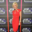 Allison Demarcus in Red at the CMT Music Awards