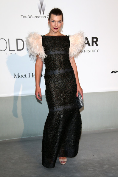 Milla Jovovich at amfAR's 21st Cinema Against AIDS Gala
