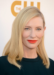 Cate Blanchett opted for a simple side-parted straight 'do when she attended the Critics' Choice Awards.