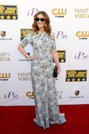 Julia Roberts looked effortlessly stylish at the Critics' Choice Awards in a black-and-white print gown by Juan Carlos Obando.
