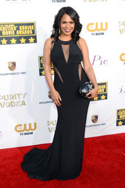 Nia Long looked provocative at the Critics' Choice Awards in a curve-hugging black gown with peekaboo detailing.