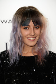 Chloe Norgaard rocked a tousled wavy 'do in various shades of purple during the Elle Style Awards.