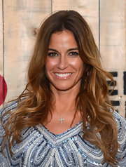 Kelly Bensimon stuck to her usual center-parted wavy 'do when she attended the Feed USA + Target launch.