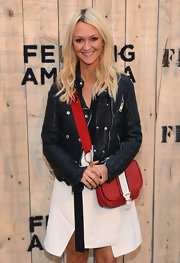 Zanna Roberts-Rassi's red and white satchel at the Feed USA + Target launch was a perfect mix of sporty and stylish.