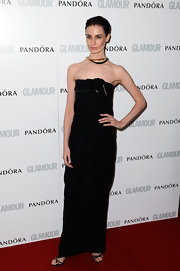 Erin O'Connor chose a strapless column dress for her look at the 'Glamour' Women of the Year Awards.