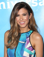 Orly Shani looked pretty with her lush side-parted waves during NBCUniversal's Summer Press Day.