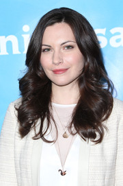 Jill Flint sported big, bouncy curls during NBCUniversal's Summer Press Day.