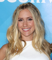 Kristin Cavallari topped off her look with a crown braid and beachy waves when she attended NBCUniversal's Summer Press Day.
