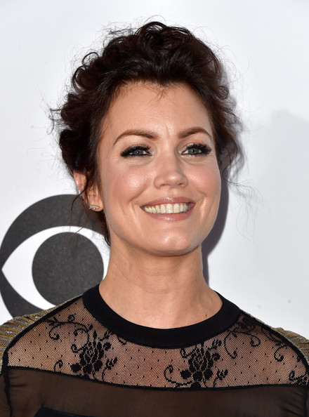 More Pics of Bellamy Young Messy Updo (8 of 25) - Updos Lookbook - StyleBistro [hair,face,hairstyle,eyebrow,chin,smile,premiere,black hair,neck,brown hair,peoples choice awards,part,california,los angeles,nokia theatre la live,arrivals,bellamy young]