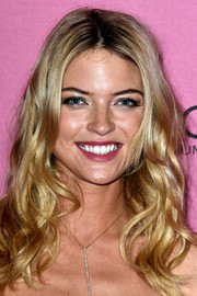 Martha Hunt looked fab with her piecey waves at the Victoria's Secret fashion show after-party.